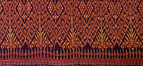 カンボジア 19c儀礼用絹絣ピダン