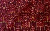 ♪カンボウジュ種絹による宮廷絹絣のアンティーク名品