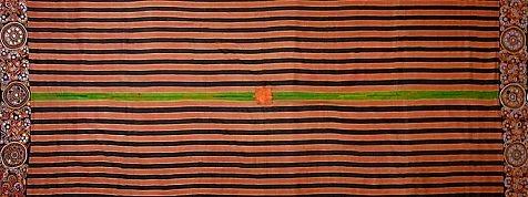 インド・グジャラート アヒール族 マシュルー地・刺繍ヴェール
