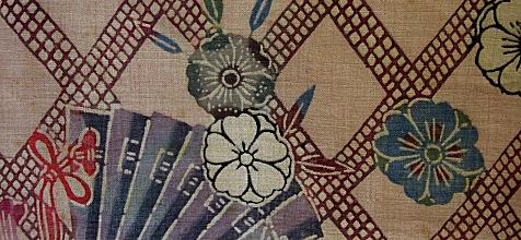 琉球王国 19c 紅型裂