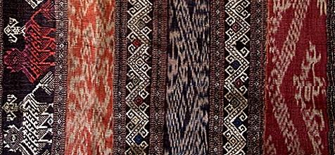 ラオス・フアパン タイ・デーン族 絣&縫取織スカート