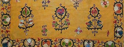 ウズベキスタン ブハラ 刺繍掛け布スザニ